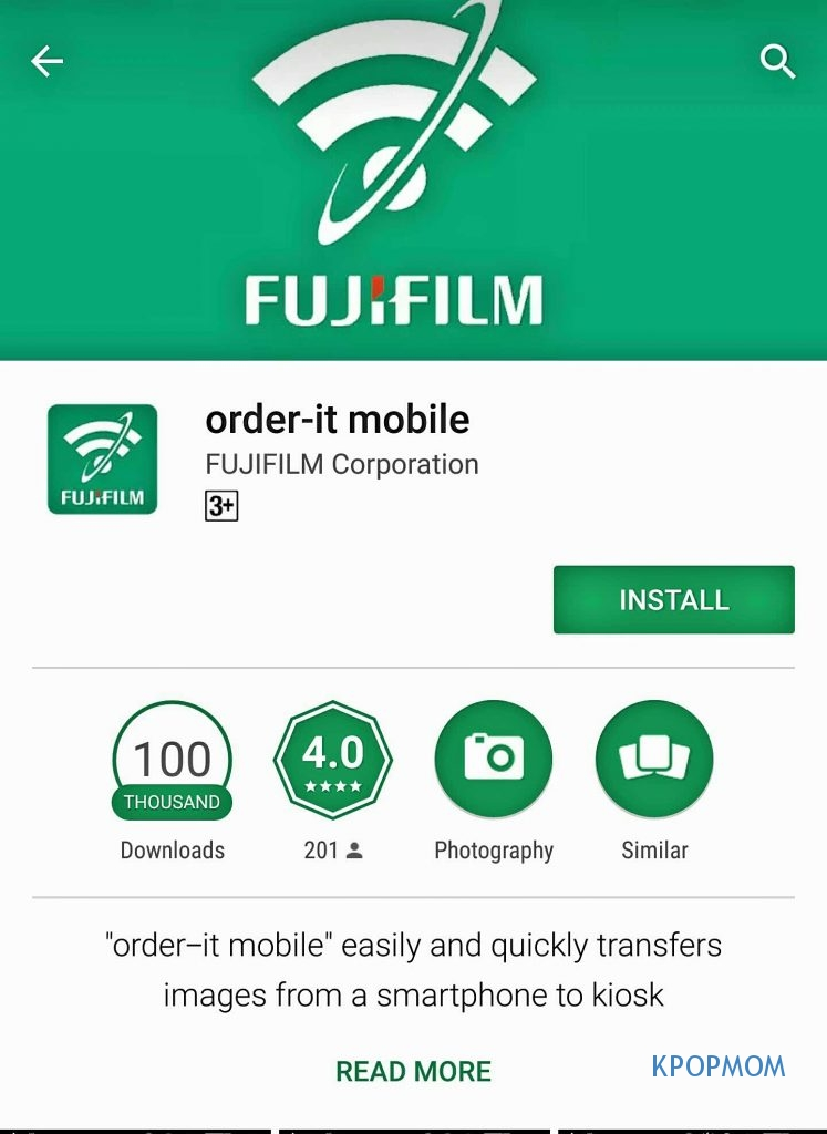 The application to download on your smartphone: order-it mobile