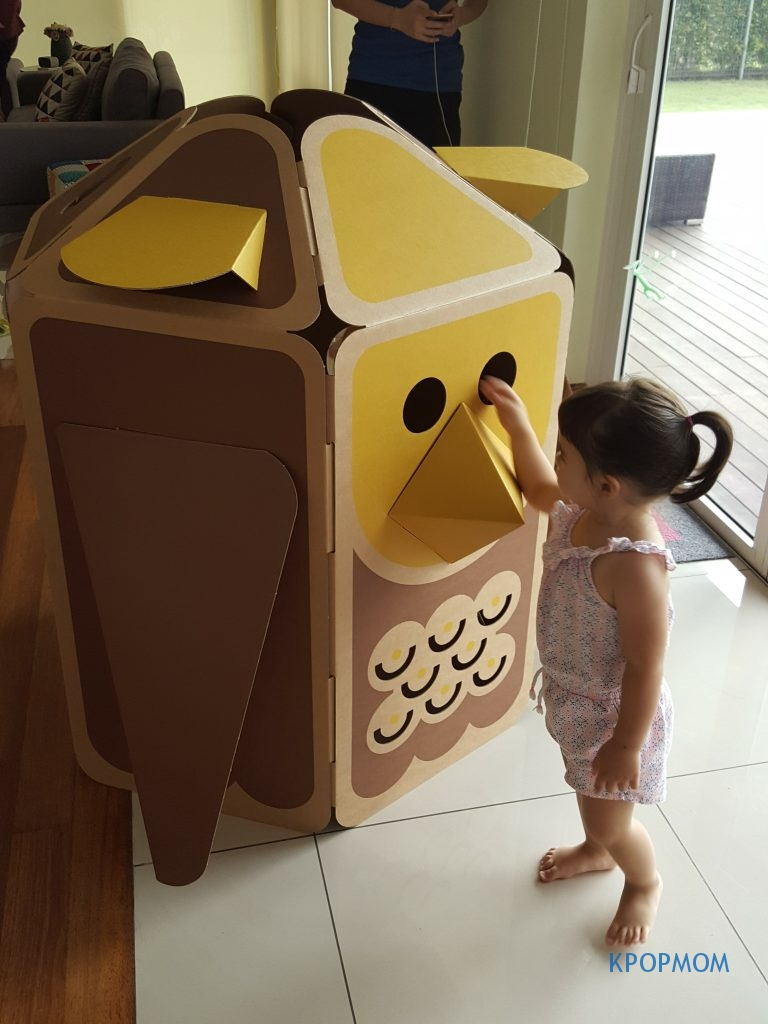 My masterpiece completed in within 10 minutes. My niece, Ashleigh saying hi to HULKI Owl