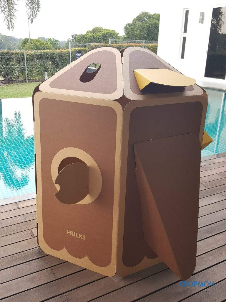 It is sturdy and strong. Not too big and not too small either. Just nice for 2 kids.