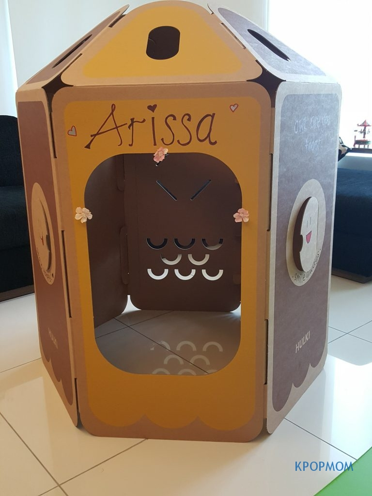Pimping up my HULKI Owl Playhouse. Will wait till Arissa is older to continue the rest with me!