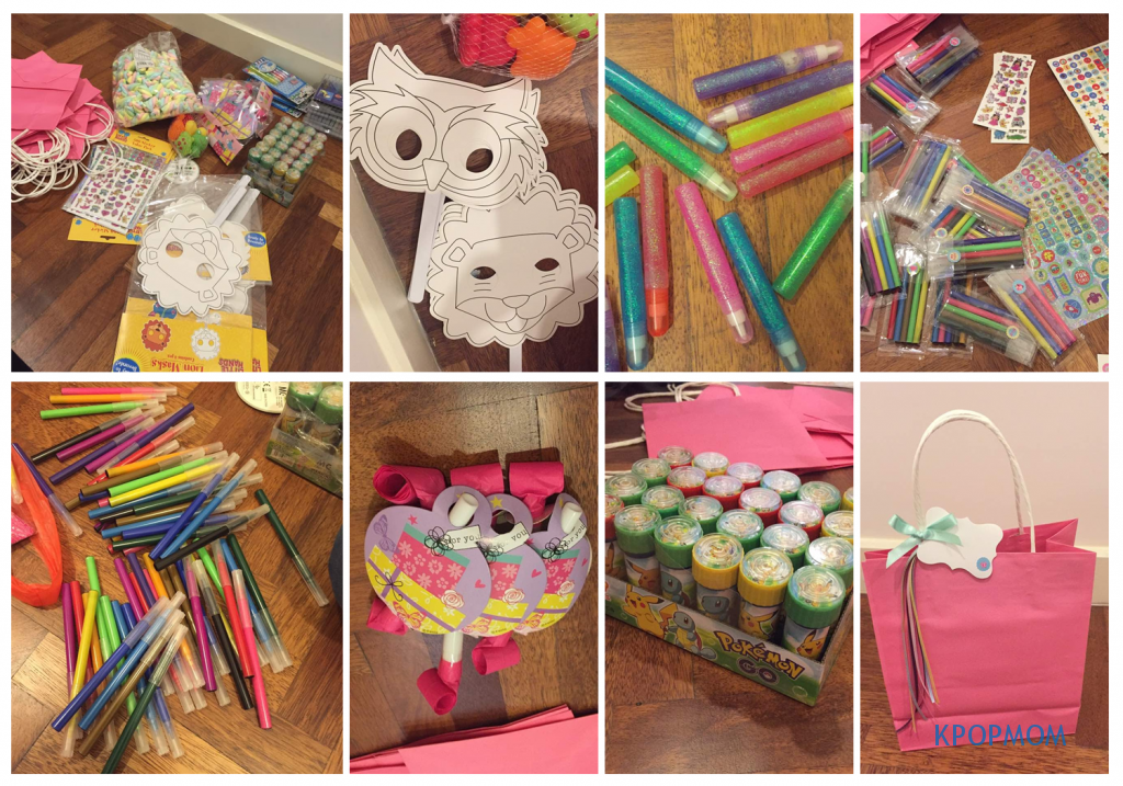 Behind the scenes: coloring masks, glitter pens, pororo bubbles, magic color pens & lots of love