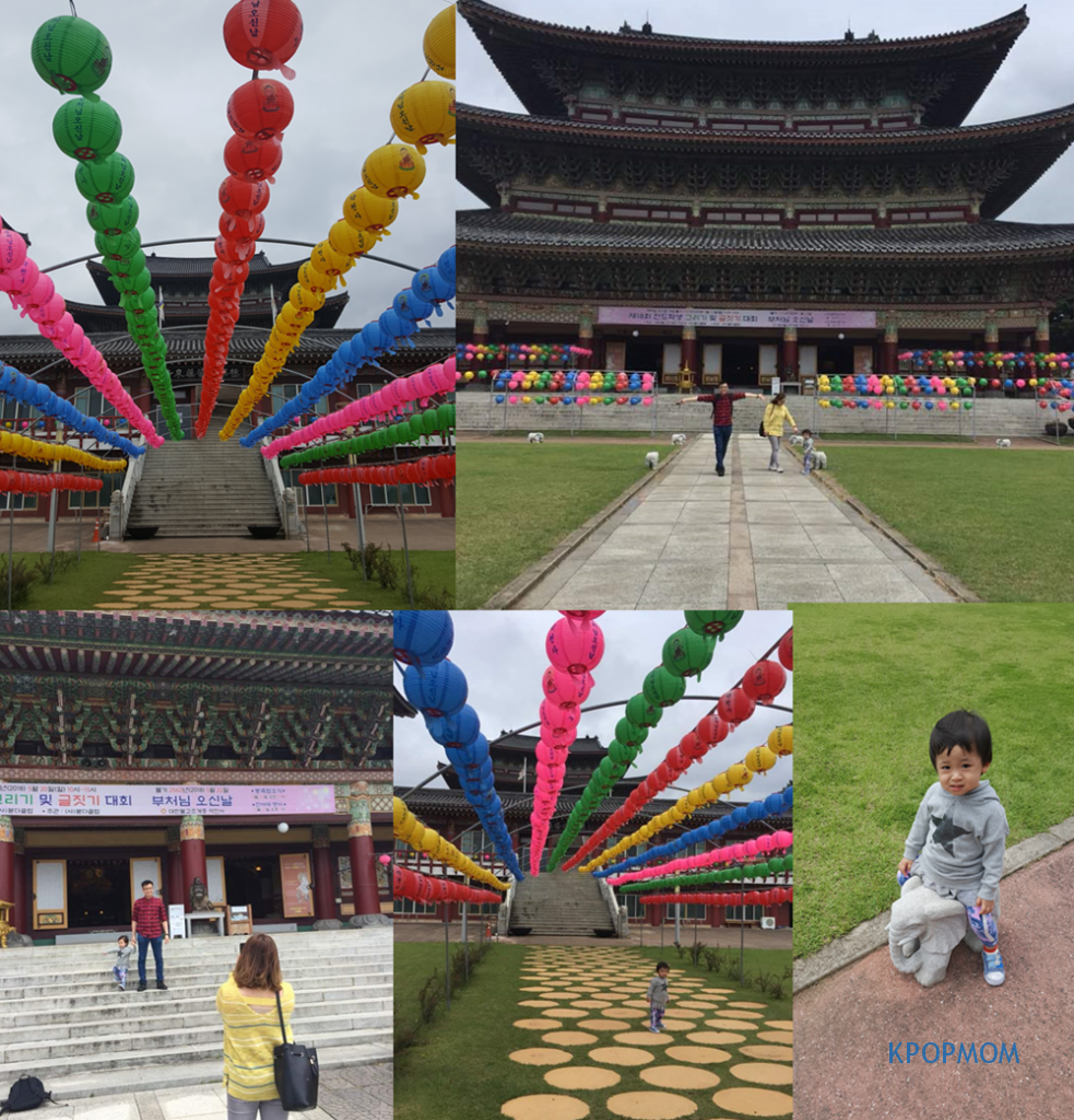 We stopped by for a while to visit the temple. It was really big and not that many people. It was near Wesak Day and they had all the balloons and decorations up! I included one behind-the-scene photograph session.