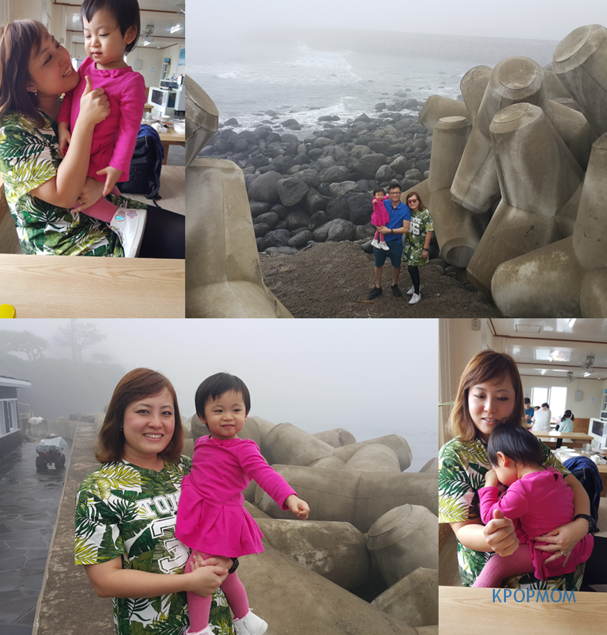 "Baby A being super ""manja"" in the restaurant. And that is us taking photos right outside the restaurant, superb view. Baby A loves the ocean so much."